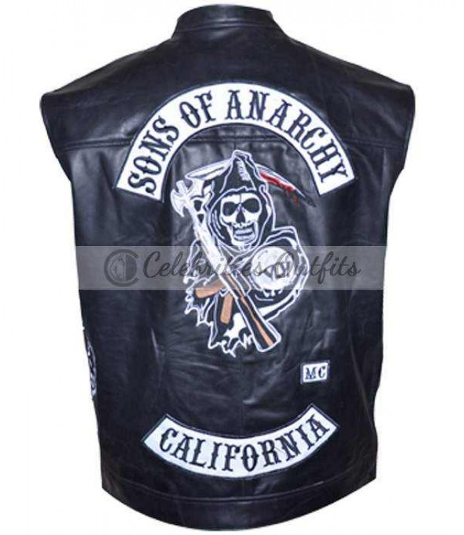best sons of anarchy soa replica jax teller top quality vest. Black Bedroom Furniture Sets. Home Design Ideas