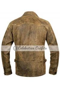 Johnny Depp Vintage Distressed Biker Leather Jacket