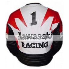 Red/Black Kawasaki Ninja Motorcycle Leather Jacket
