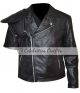 Mel Gibson Mad Max Road Warrior Black Jacket