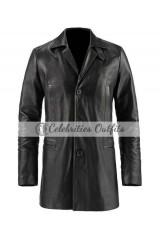 Max Payne Mark Wahlberg Black Leather Jacket Coat
