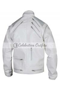 Michael Jackson Beat It White Replica Leather Jacket