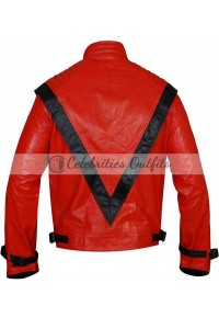 Michael Jackson Red And Black Thriller Jacket Costume