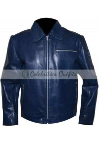 Need For Speed Tobey Marshall Blue Leather Jacket