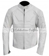Tom Cruise Oblivion White Motorcycle Jacket