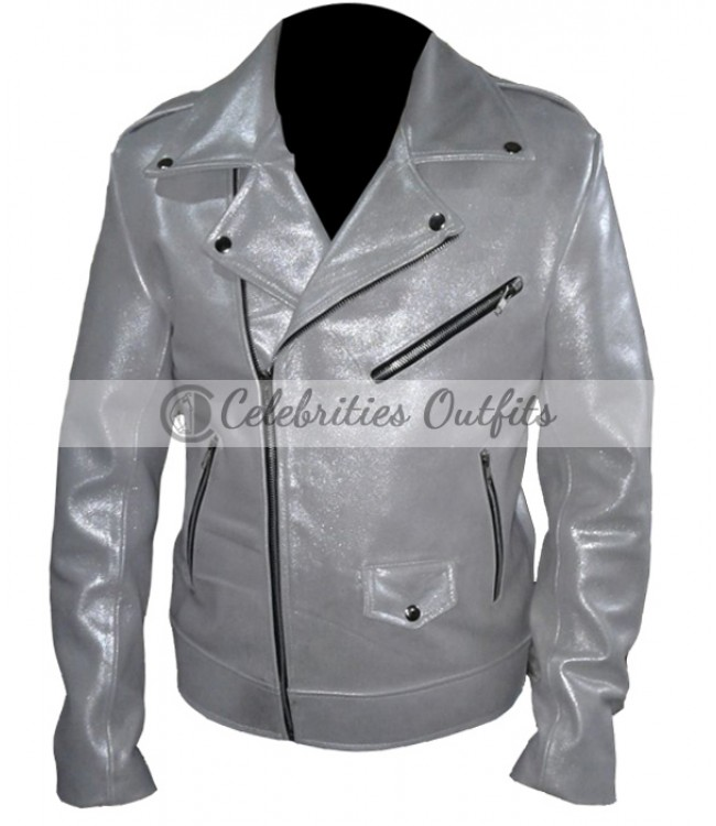 53eb41137 X-Men Days Of Future Past Quick Silver Evan Peters White Jacket