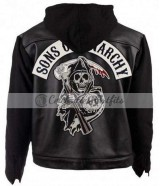 Unofficial Sons Of Anarchy Hoodie Black Motorcycle Jacket