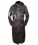Men's Steampunk Gothic Trench Halloween Coat Costume UK
