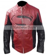 Smallville Black Red Superman Designer Leather Jacket