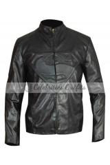 Superman Smallville Tom Welling Black Replica Leather Jacket