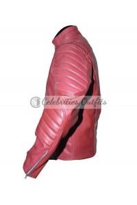 Smallville Superman Clark Kent Red Leather Jacket