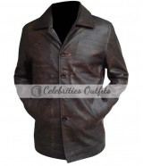 Supernatural Jensen Ackles Brown Long Leather Coat