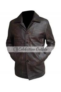 Supernatural Jensen Ackles Brown Long Leather Coat