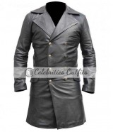 Johnny Depp Sweeney Todd Black Leather Jacket Coat