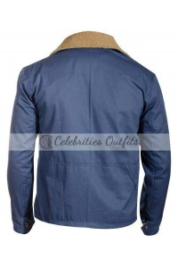 The Drop Tom Hardy Blue Cotton Jacket