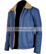The Drop Tom Hardy Blue Cotton Jacket