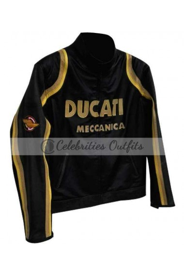 Tom Cruise Ducati Biker Leather Jacket Los Angeles