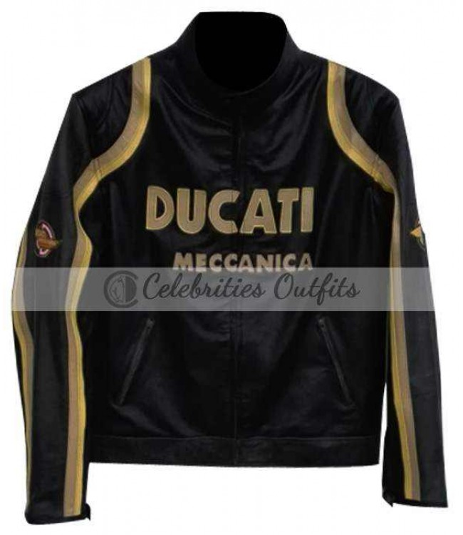 tom cruise los angeles ducati motorcycle real leather jacket