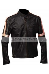 Tom Cruise War Of The Worlds Stripes Leather Jacket
