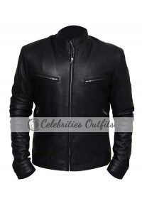 Fast And Furious 7 Vin Diesel Black Leather Jacket