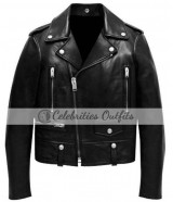 Justin Bieber VMAs 2015 Black Biker Leather Jacket