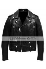 Justin Bieber VMAs 2015 Black Biker Leather Jacket