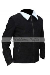 Rick Grimes Walking Dead Season 4 Black Fur Jacket