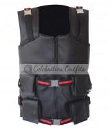 Blade Movie Wesley Snipes Black Tactical Leather Vest