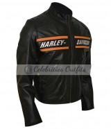 Bill Goldberg Harley Davidson WWE Black Motorcycle Jacket