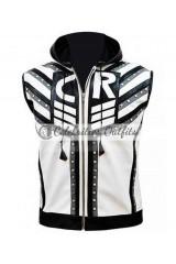 Cody Rhodes WWE White/Black Leather Vest
