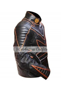 X-Men The Last Stand Wolverine Black Motorcycle Leather Jacket