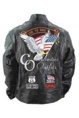 Men's Live To Ride Black Biker Leather Jacket