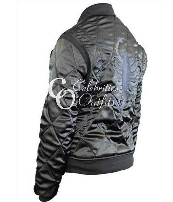ryan-gosling-black-scorpion-satin-jacket