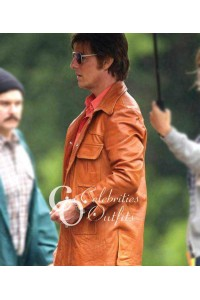Tom Cruise Mena Movie Brown Leather Jacket