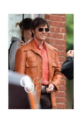 Tom Cruise Mena Movie Brown Leather Jacket