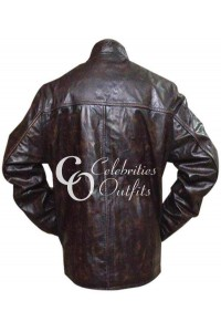 Tom Cruise Brown Distressed Brown Leather Jacket