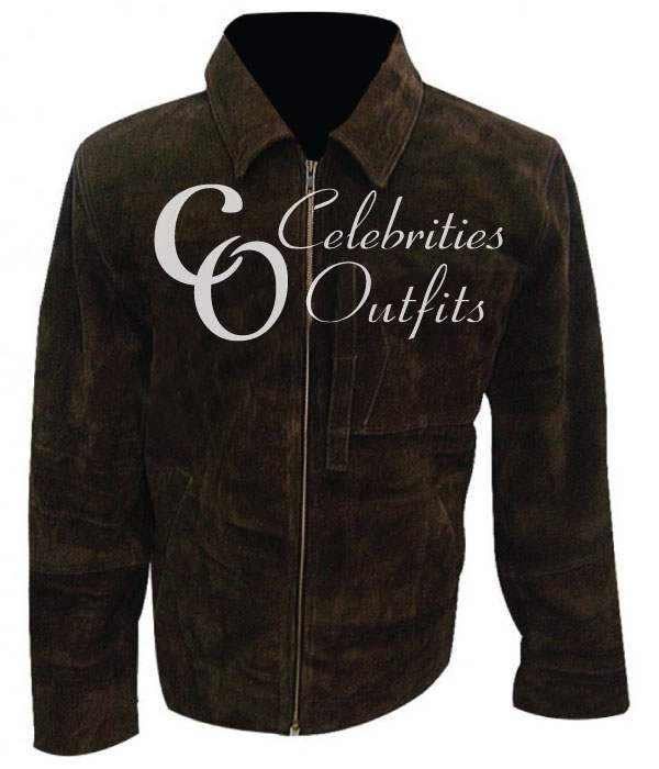 Oblivion Tom Cruise Jack Harper Brown Suede Jacket