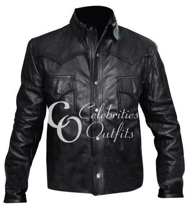 The Walking Dead David Morrissey Black Leather Jacket