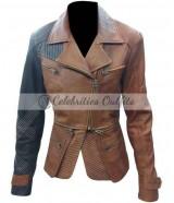 Defiance TV Series Julie Benz Brown Leather Jacket