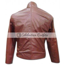 88 Minutes Alicia Witt Brown Leather Jacket