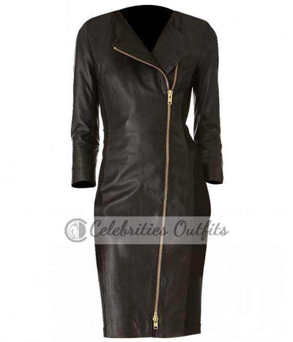 ashley-roberts-trench-leather-jacket-coat