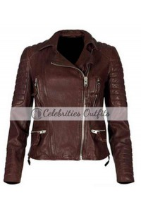 Kristin Kreuk Beauty And The Beast Brown Leather Jacket
