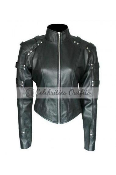 Arrow Season 2 Black Canary Short Body Leather Jacket