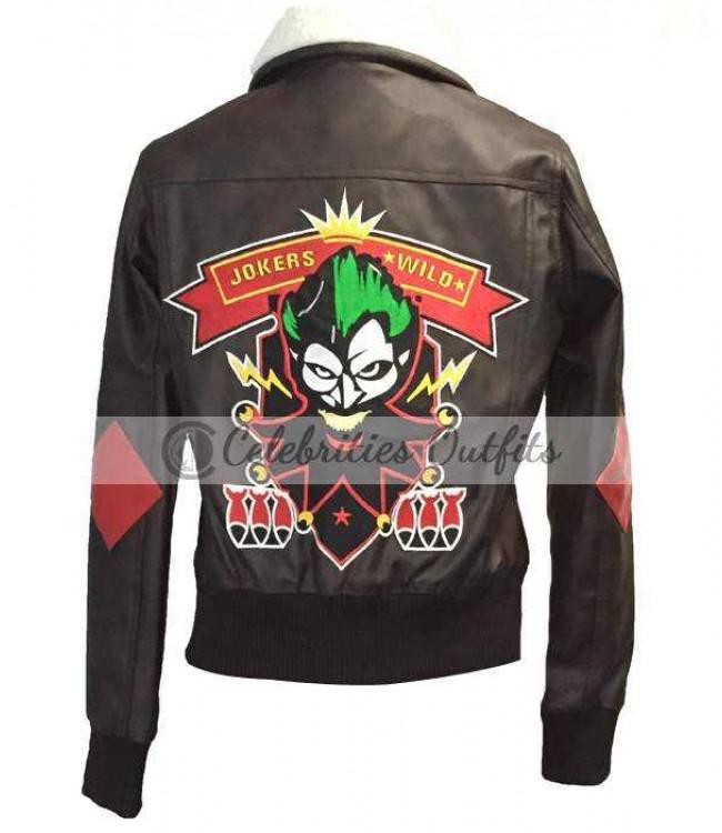 114edb587814c Bombshell Harley Quinn Leather Jacket Cosplay Halloween Costume