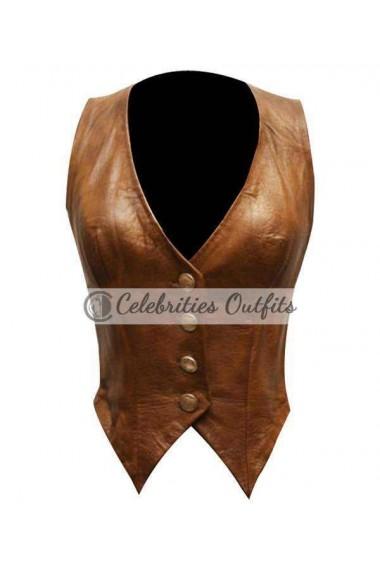 Jessica Simpson The Dukes Of Hazzard Leather Vest