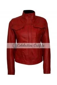 Once Upon A Time Jennifer Morrison Red Leather Jacket
