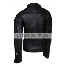 Angelina Jolie Wanted Movie Black Biker Jacket