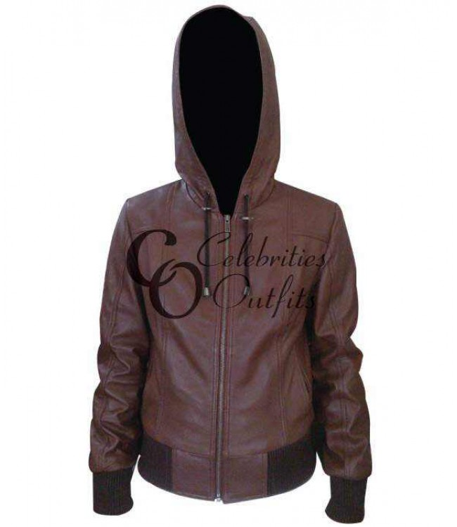 women-brown-bomber-leather-jacket