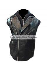 Allen Jones Style WWE Black Leather Vest Jacket