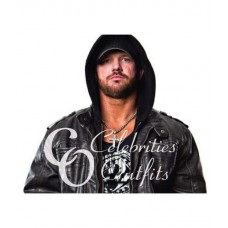 Allen Jones AJ Stylish TNA Black Leather Jacket